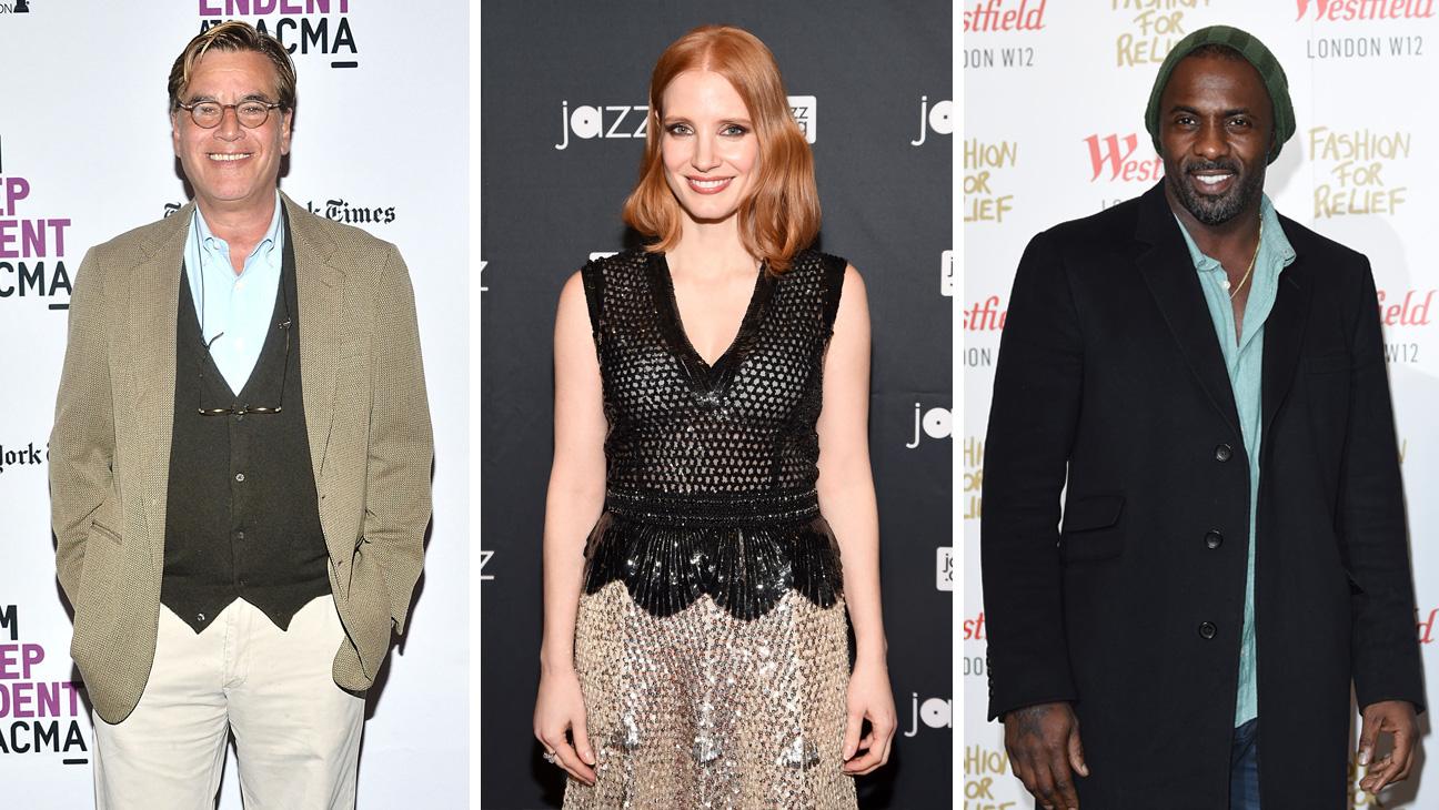 Aaron Sorkin Jessica Chastain Idris Elbas Split - H 2016
