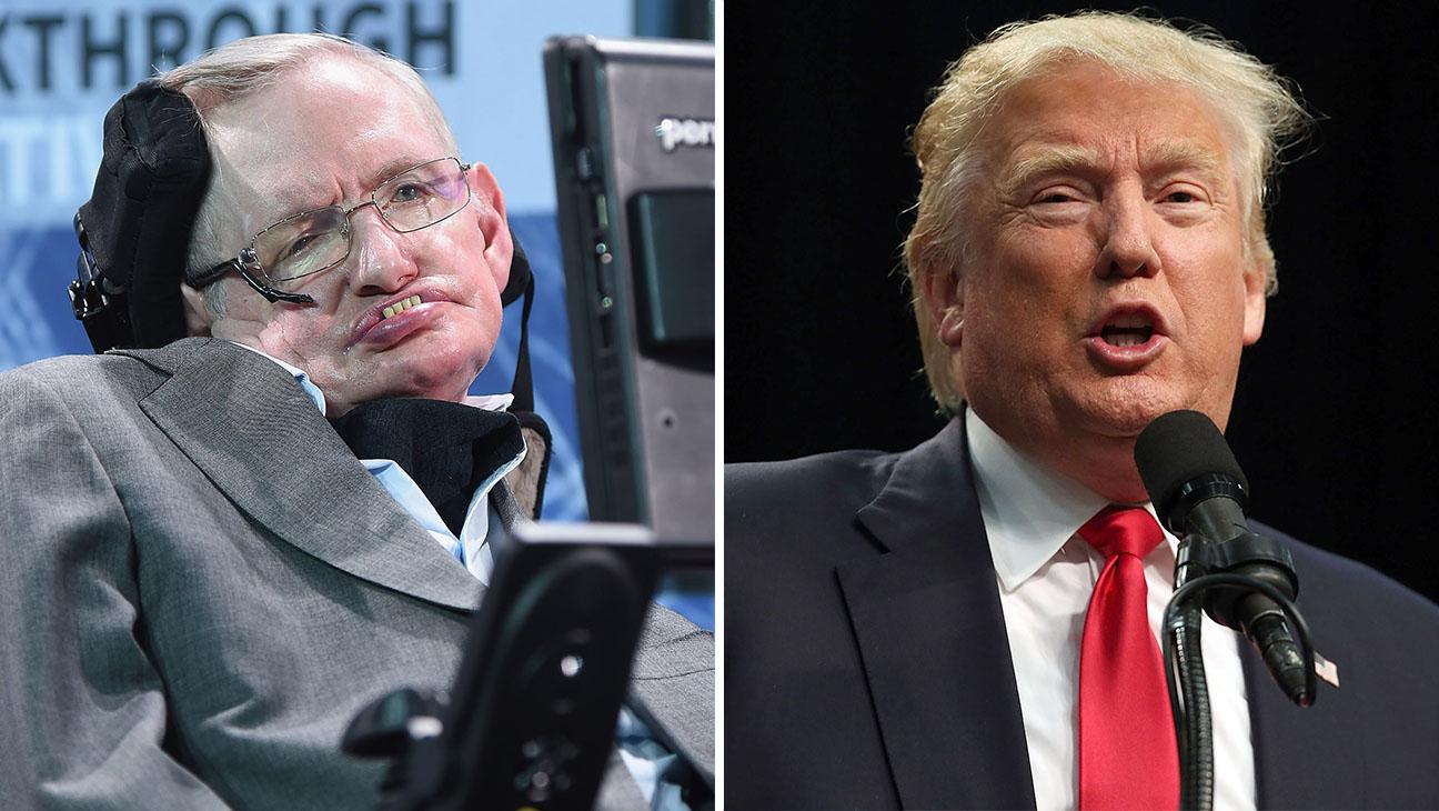Stephen Hawkin Split Donald Trump H 2016