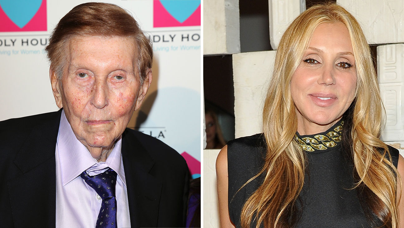 Sumner Redstone and Manuela Herzer Split-Getty-H 2016