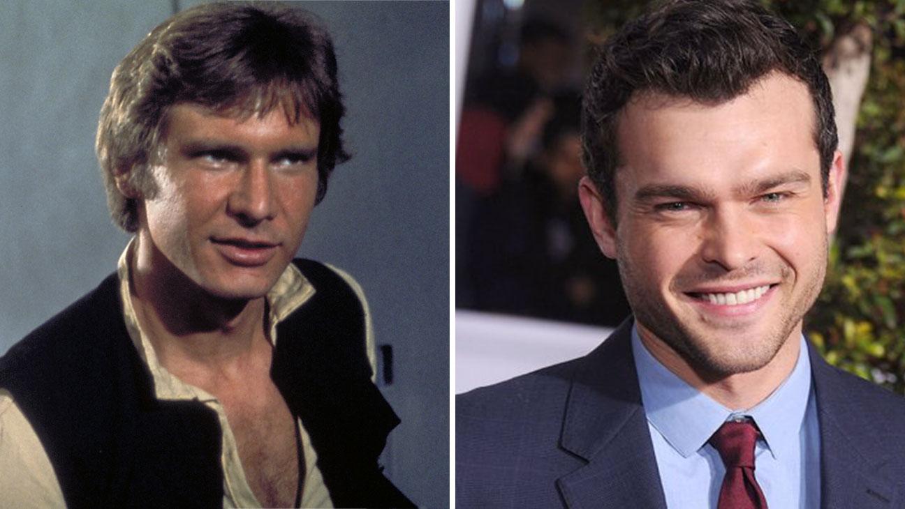 Harrison Ford in Star Wars and Alden Ehrenreic Split-H 2016