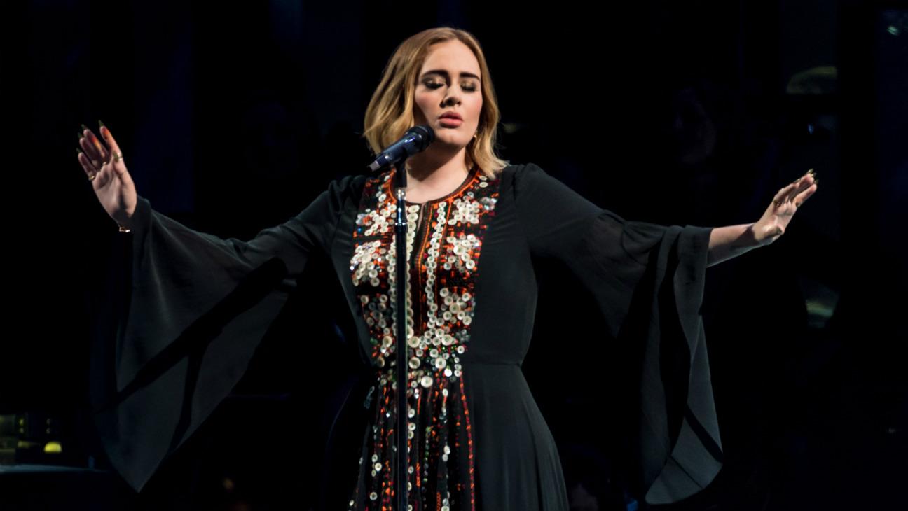 Adele at Glastonbury - Getty - H 2016