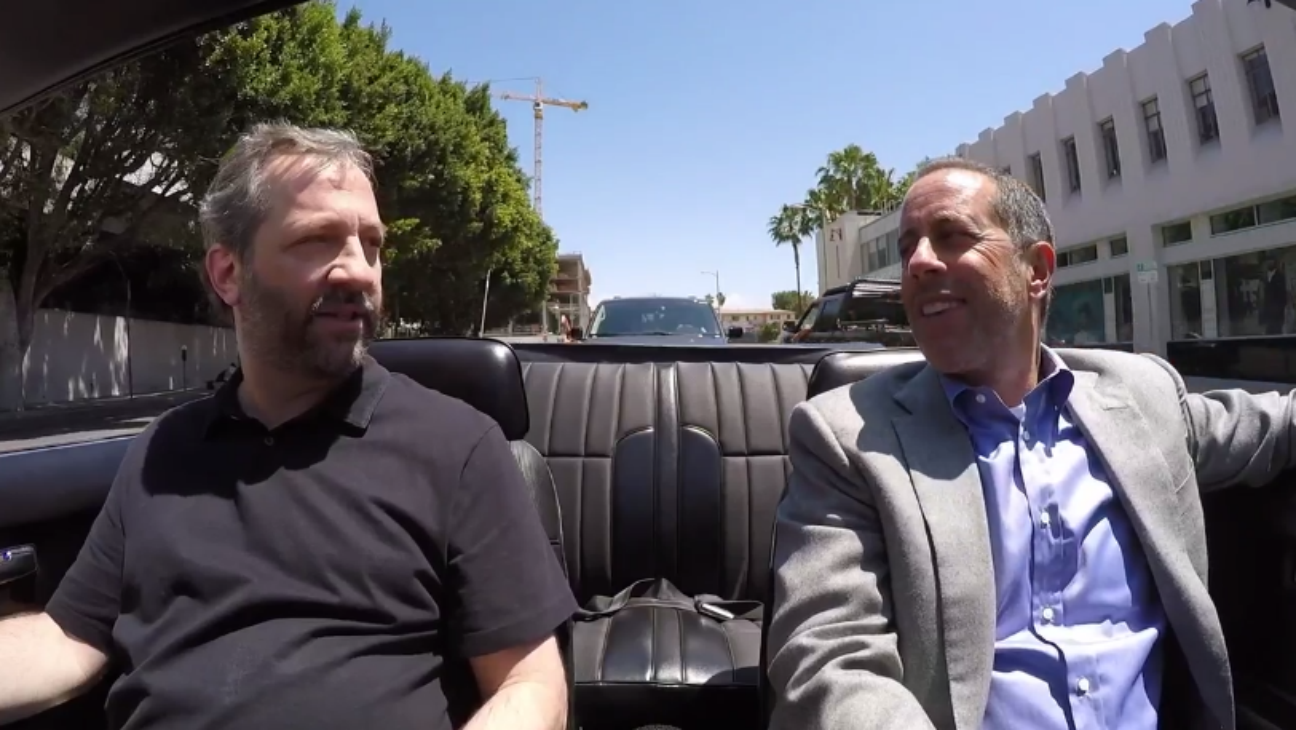 Judd Apatow, Jerry Seinfeld on Comedians in Cars - H 2016