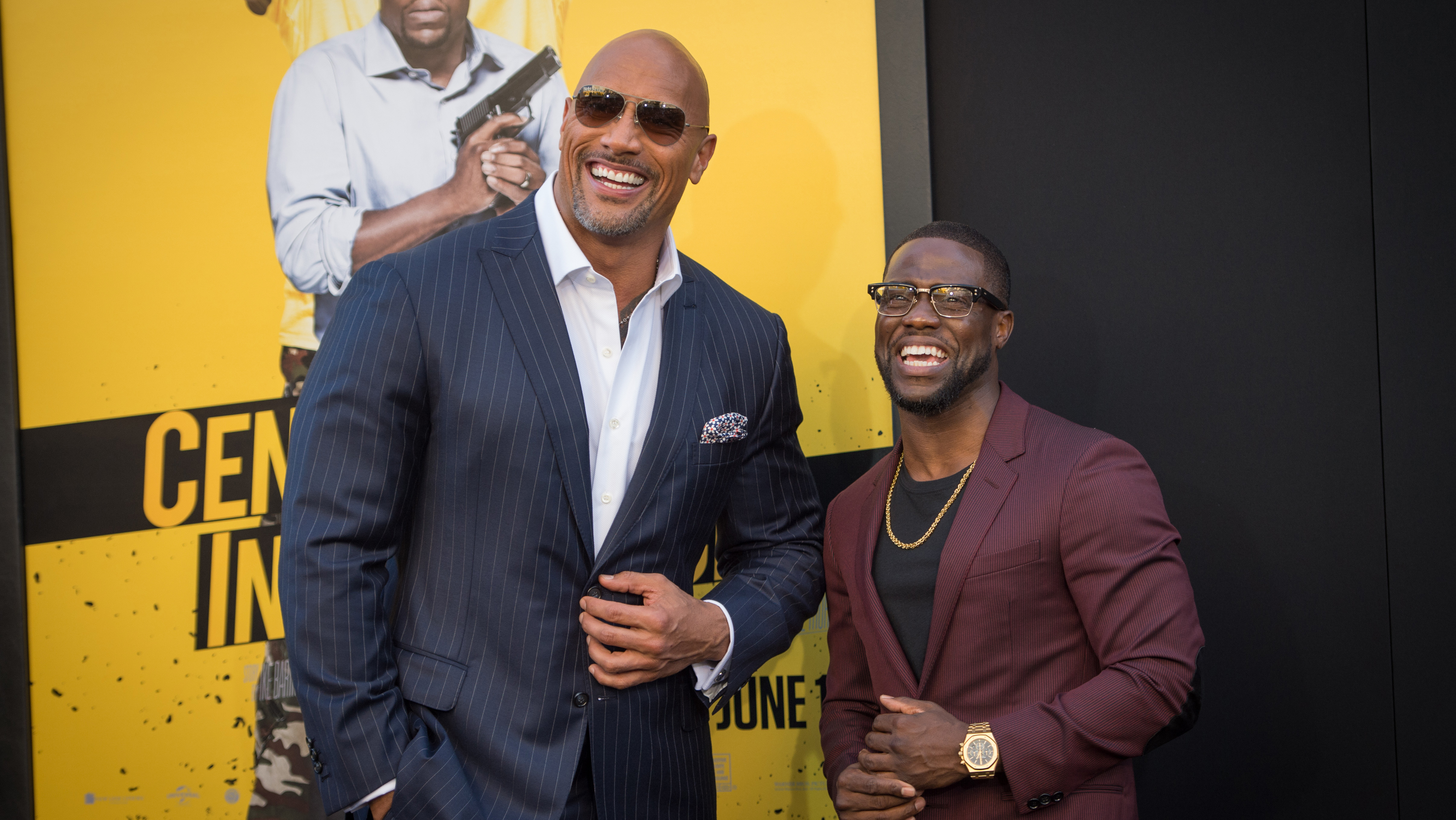 Dwayne Johnson and Kevin Hart - Getty - H