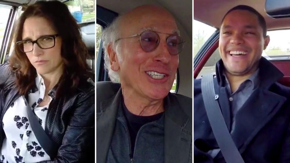 Comedians in Cars Screenshot Julia Louis Dreyfus Larry David Trevor Split H 2016