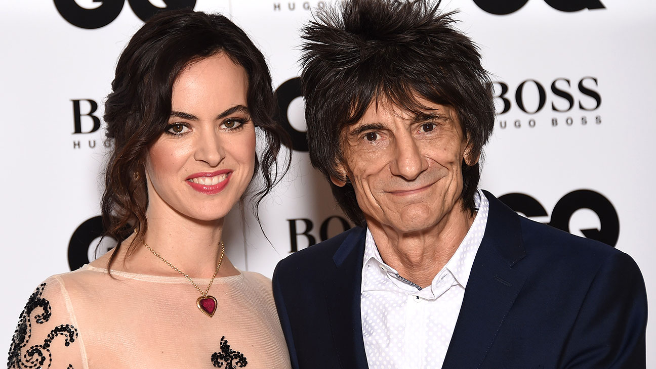 Ronnie Wood and wife Sally Humphreys-Getty-H 2016