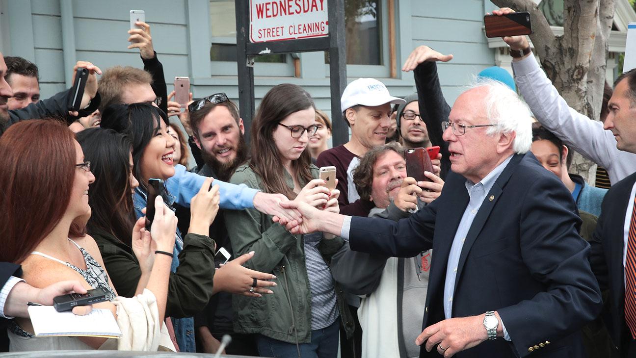 Senator Bernie Sanders -June 7-Supporters-Getty-H 2016