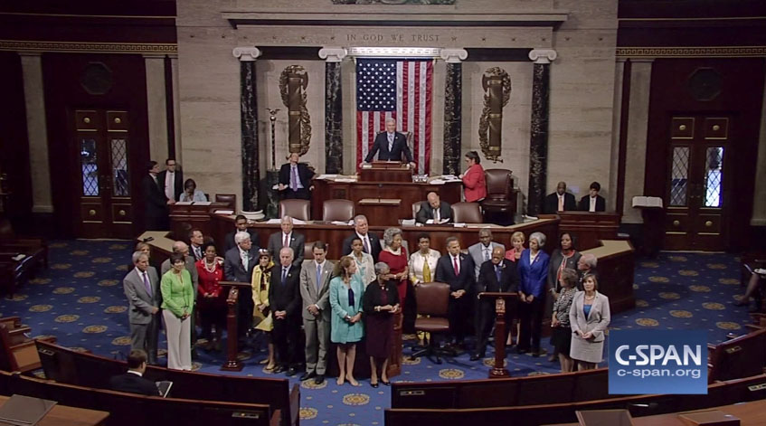 House Democrats Sit In on House Floor Screenshot H 2016