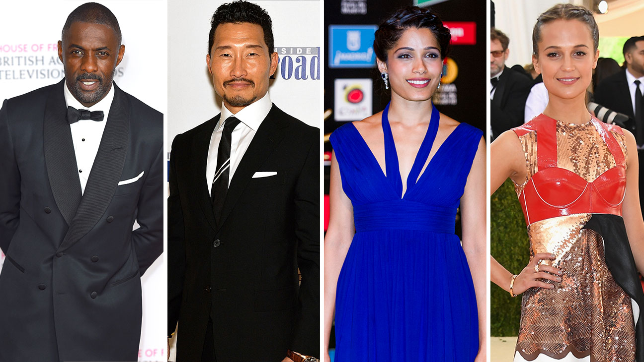 Idris Elba,  Daniel Dae Kim, Frieda Pinto and Alicia Vikander Split-Getty-H 2016