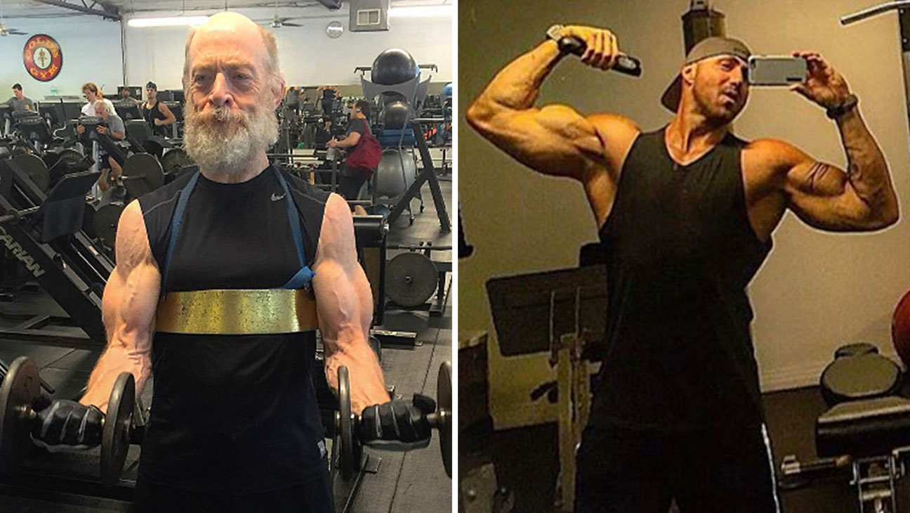 JKSimmons AaronvWilliams working out INSTAGRAM_P_2016