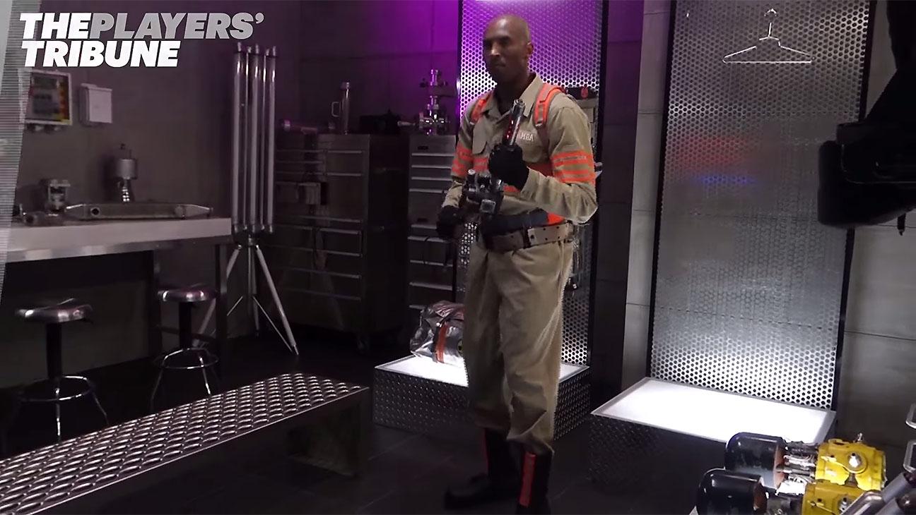 Kobe Bryant - Behind-the-Scenes Ghostbusters Promo-Screen Shot-H 2016