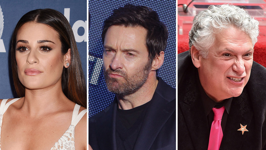 lea michele, hugh jackman, and harvey fierstein_Split - Getty - H 2016
