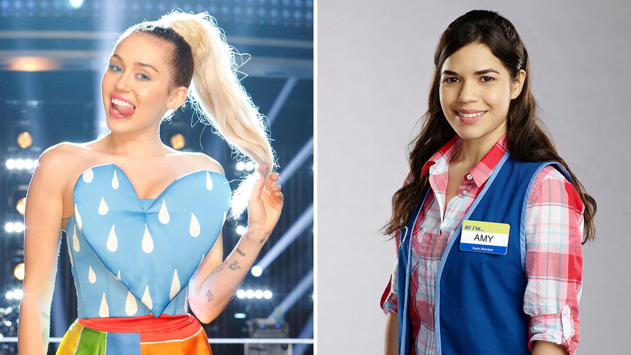 Miley Cyrus The Voice America Ferrera Superstore H 2016