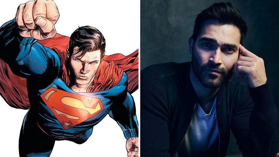Superman and Tyler Hoechlin-DC Entertainment and Getty-H 2016