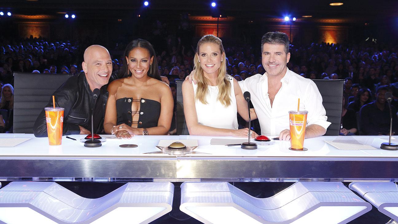 Americas Got Talent Howie Mandel Mel B Heidi Klum Simon Cowell Still H 2016
