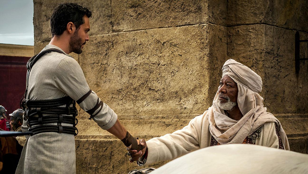 Ben Hur Jack Huston Morgan Freeman Publicity Still 3 H 2016