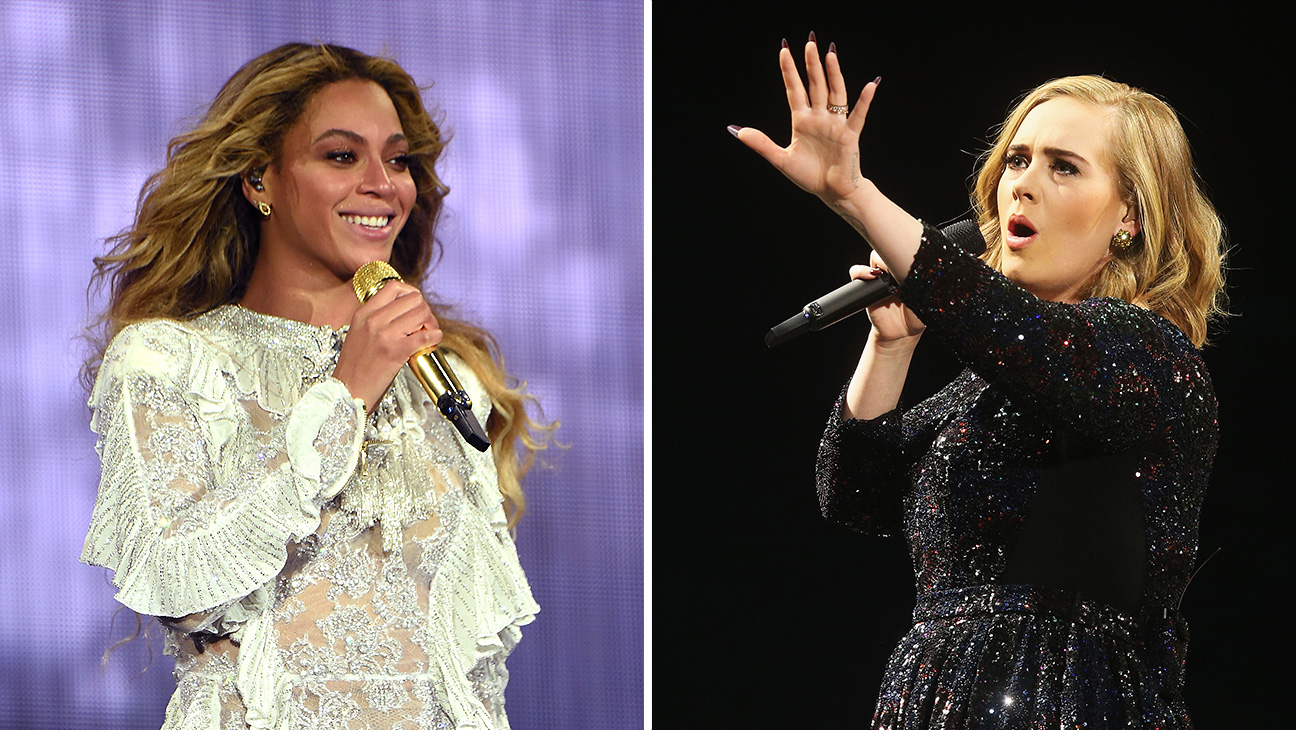Beyonce/Adele Split - Getty - H 2016