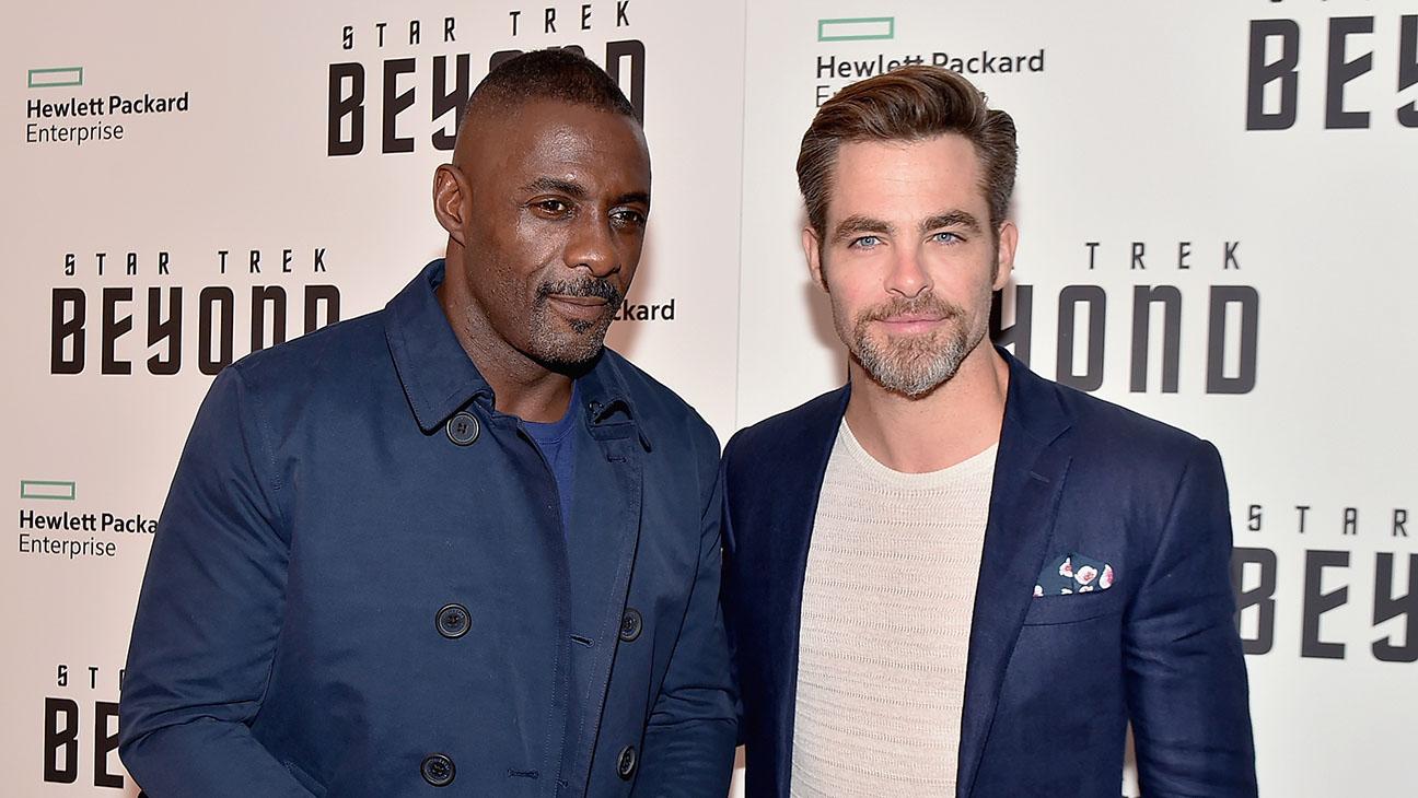 Chris Pine and Idris elba star trek premiere - Getty - H 2016