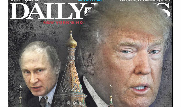 Daily News Trump Russia Cover - Publicity - H 2016