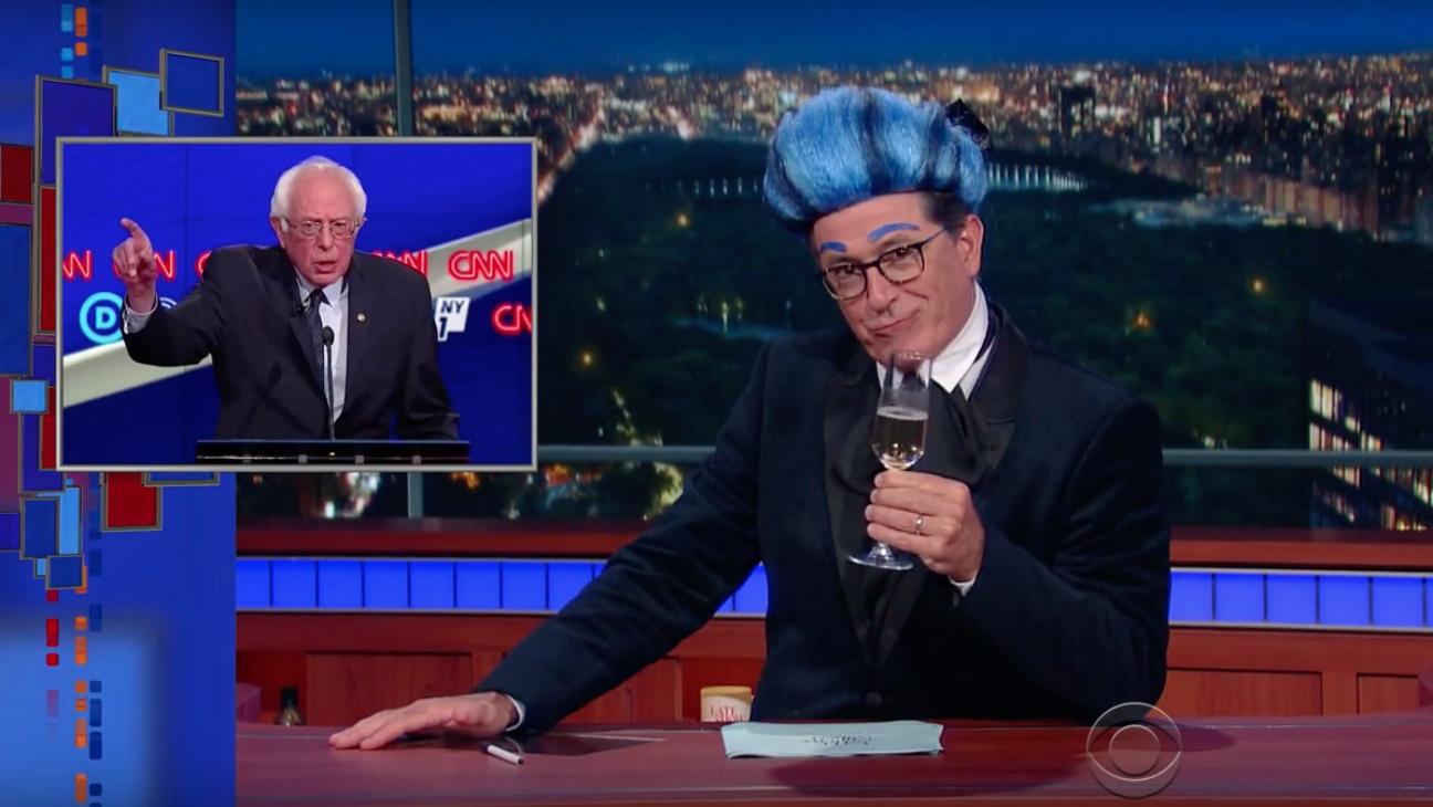 Stephen Colbert Teases Bernie Sanders — H 2016