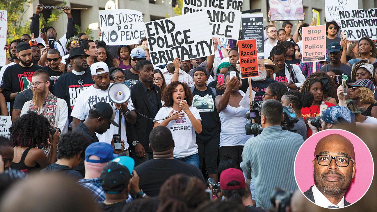 Dallas_Protest_Salim Akil_Inset - Getty - H 2016