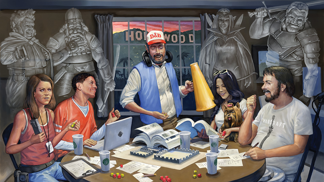 Behind Hollywood's Closed Doors, A-List Stars Are Playing Dungeons & Dragons