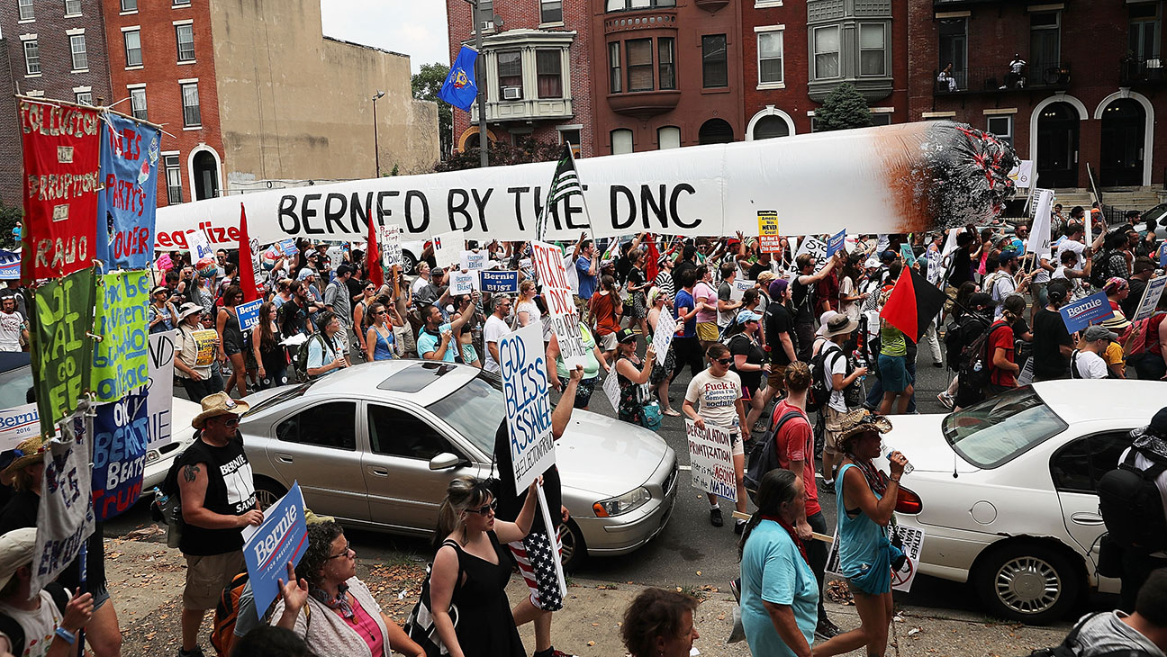 DNC Protests - Getty - H 2016