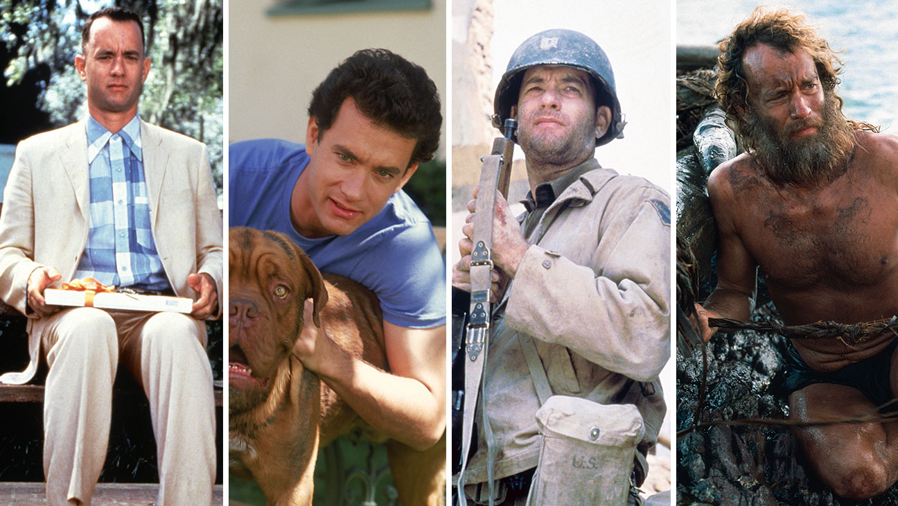 Forrest Gump, Turner & Hooch, Saving Private Ryan and Cast Away Split - Photofest - H 2016