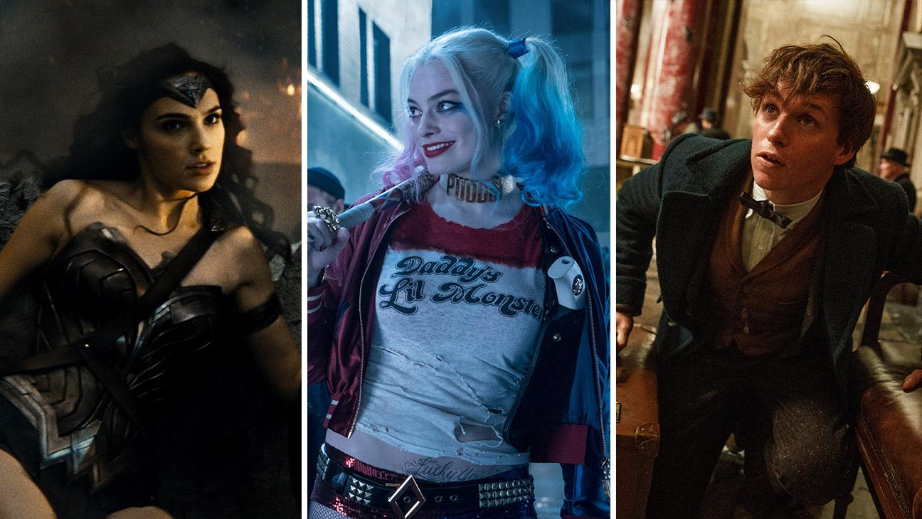 Gal Gadot_Wonder Woman_Margot Robbie_Suicide Squad_Eddie Redmayne_Fantastic Beasts_Split -Publicity - H 2016
