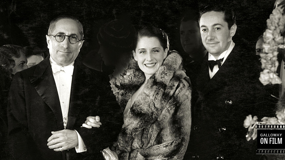 Louis B Mayer Norma Shearer Irving Thalberg 1931 Premiere Strangers May Kiss - Galloway on Film -H 2016
