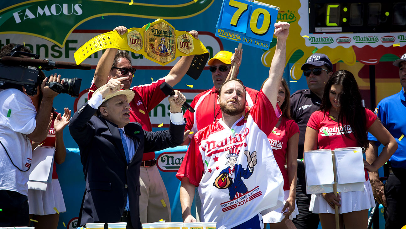 Joey Chestnut wins the annual Hot Dog Eating Contest at Coney Island-Getty-H 2016