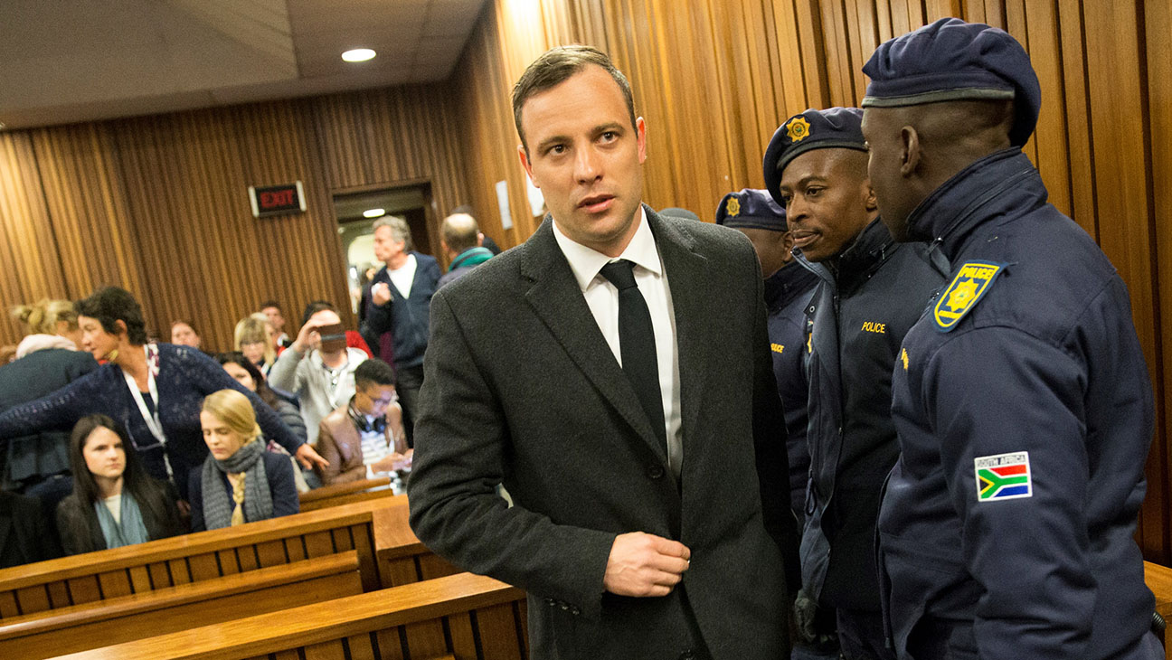 Oscar Pistorius- arrives for a hearing in his murder trial on July 6, 2016-Getty-H 2016