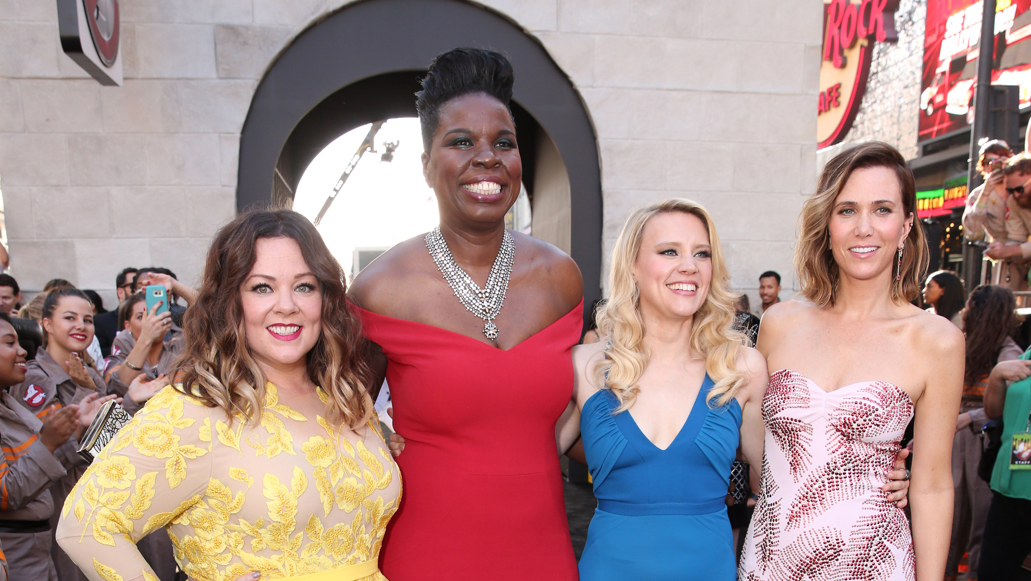 Ghostbusters cast at premiere - Getty - H