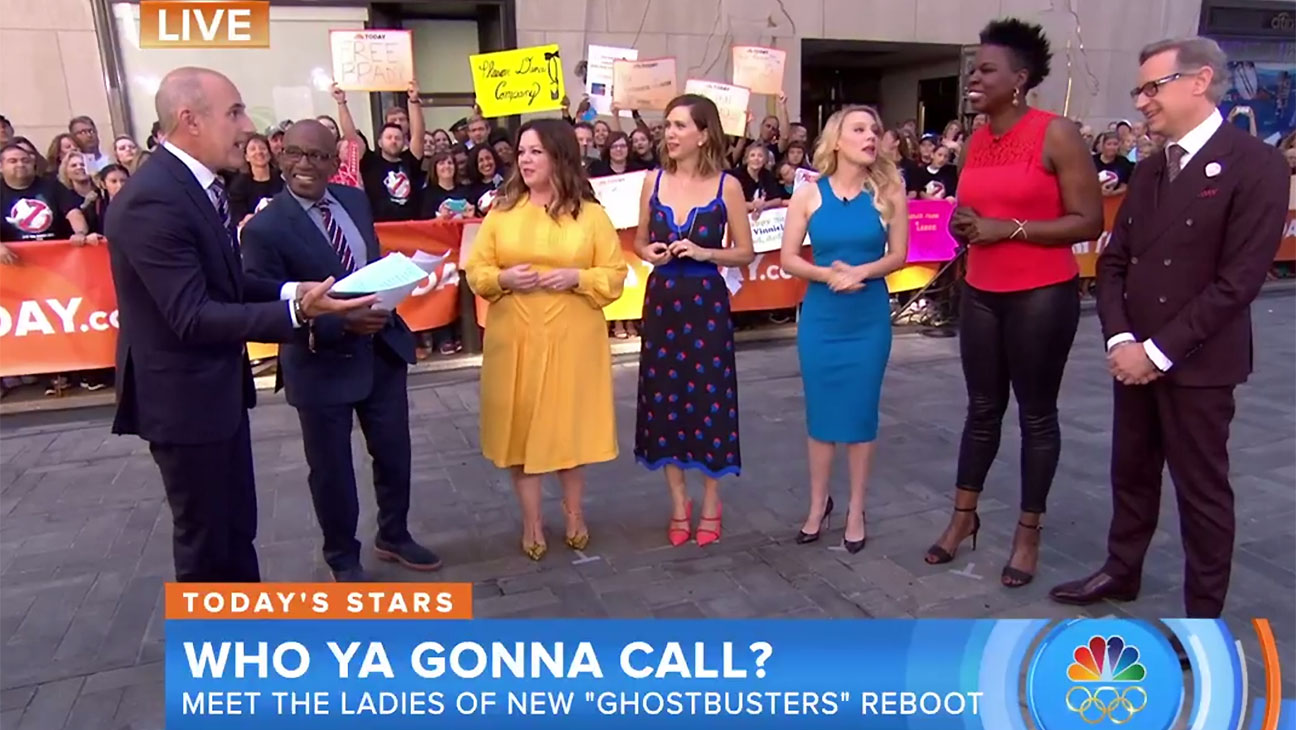 Ghostbusters cast on today show - Screen shot-H 2016