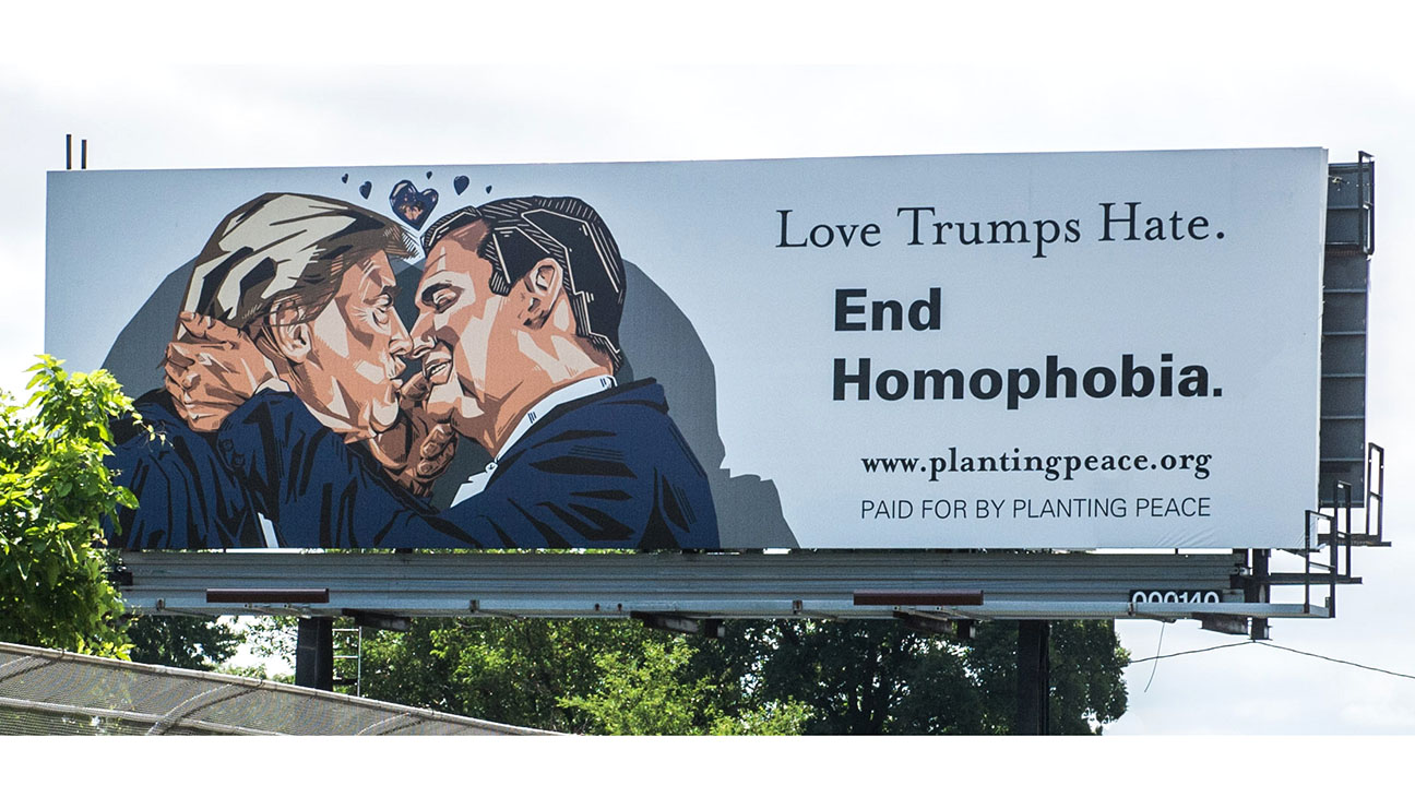 Love Trumps Hate-Planting Peace-H 2016