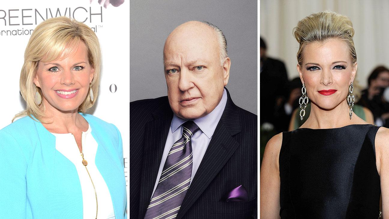 Gretchen Carlson, Roger Ailes, and Megyn Kelly Split - Getty - H 2016