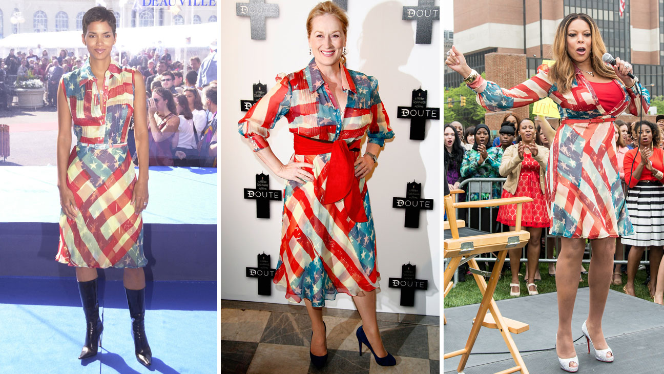 A Brief History Of Meryl Streep S Catherine Malandrino American Flag Dress Hollywood Reporter