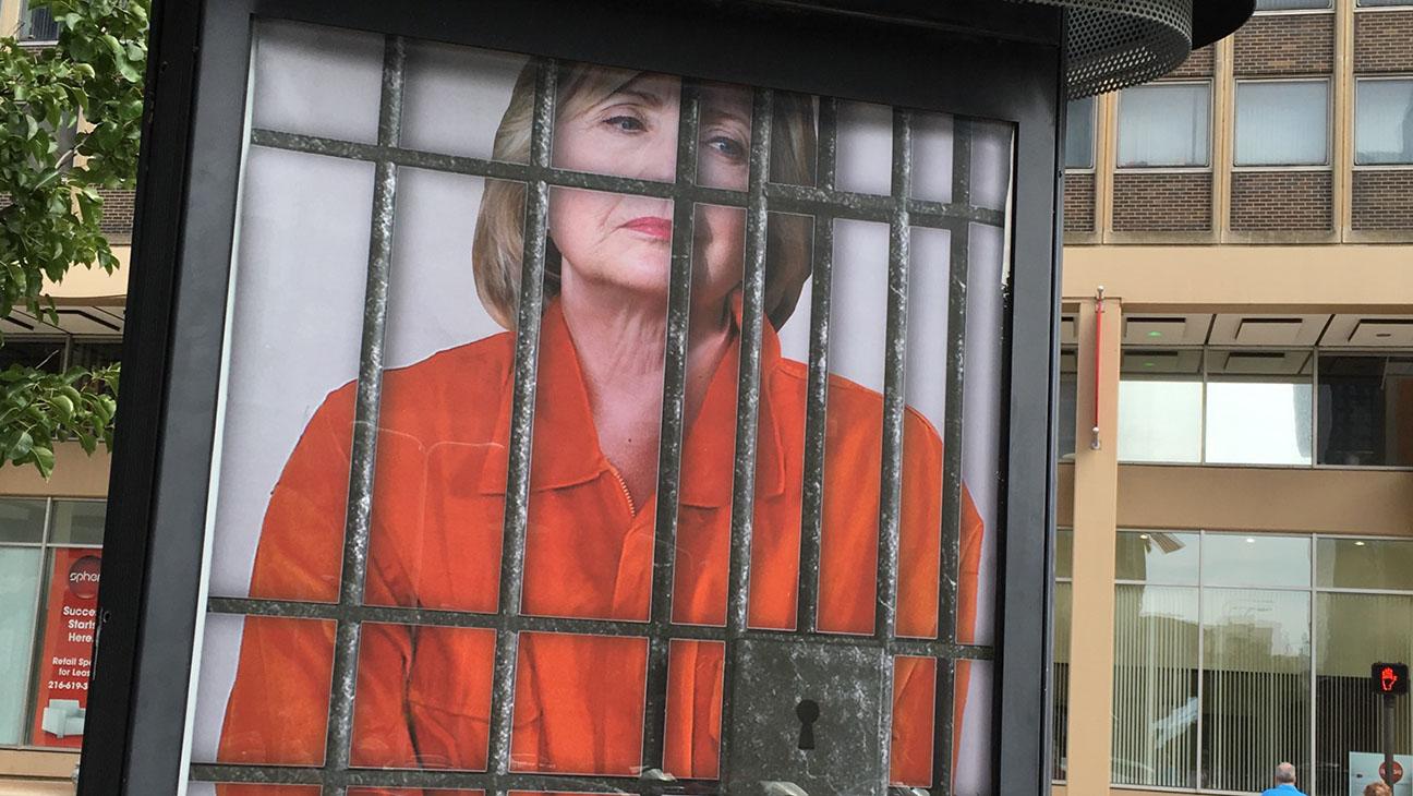 Sabo Hillary Clinton Behind Bars - H 2016