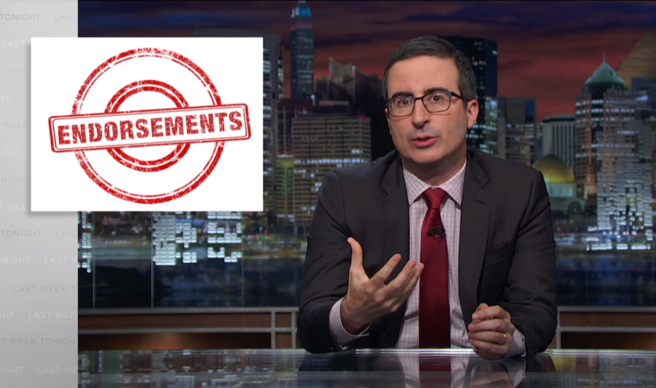 John Oliver Endorsements H 2016