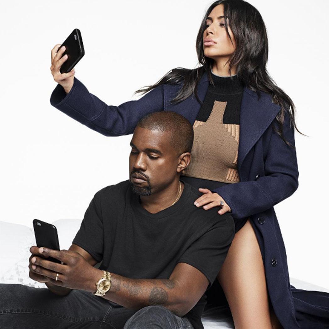 Kanye West grabs Kim Kardashians world famous bum as she