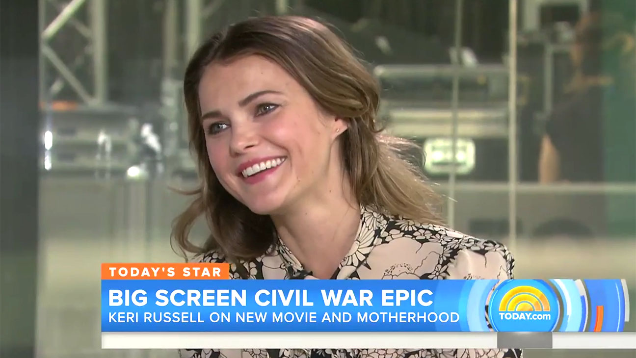 Keri Russell on the today show with Matt Lauer Screen shot-H 2016
