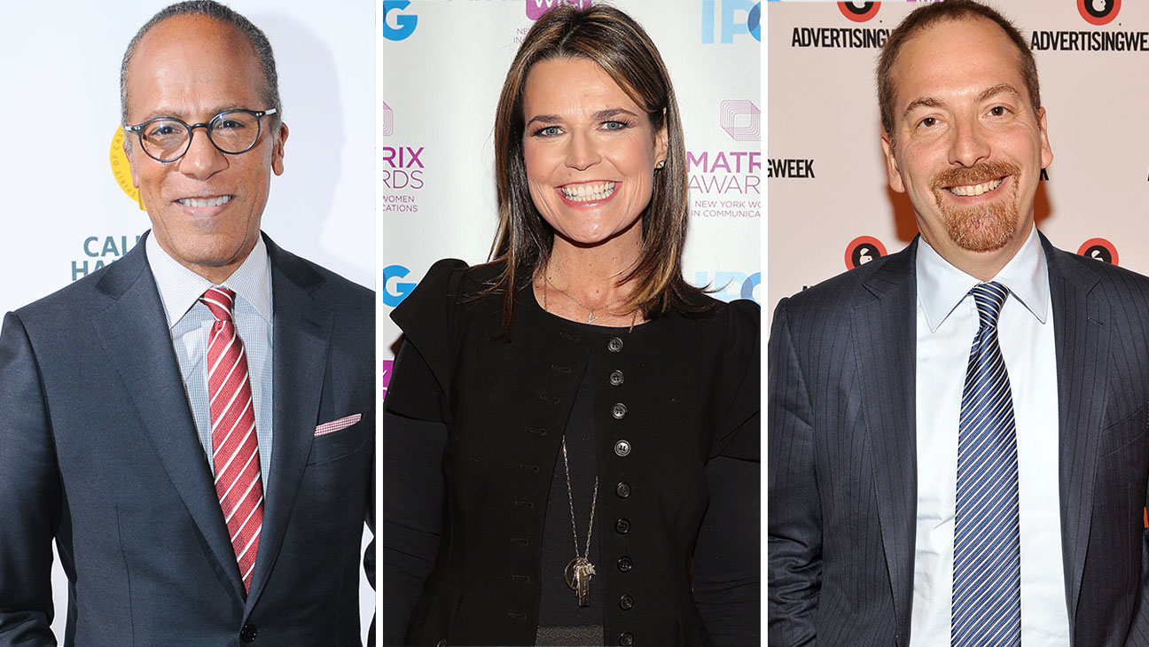 Lester Holt, Savannah Guthrie and Chuck Todd-Getty-Split-H 2016