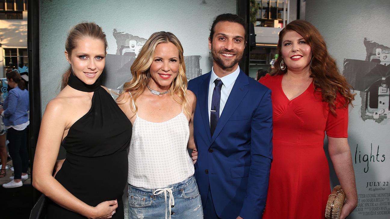 Lights Out Premiere - Teresa Palmer, Maria Bello, Alexander DiPersia and Lotta Losten - H Getty 2016