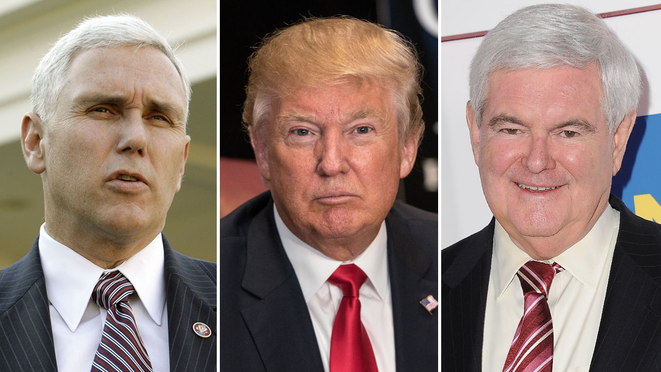 Mike Pence Donald Trump Newt Gingrich Split H 2016