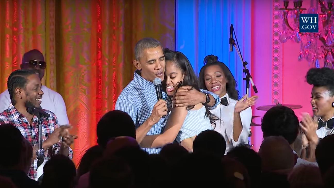 Obama Sings to Malia — H 2016