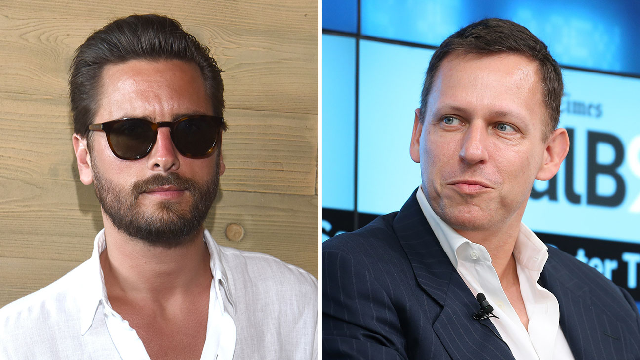 Scott Disick and Peter Thiel_Split - Getty - H 2016