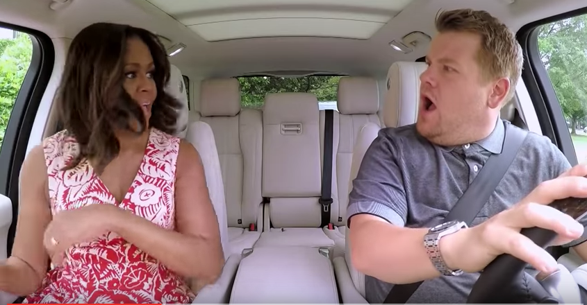 Michelle Obama 'Carpool Karaoke' - Publicity - H 2016
