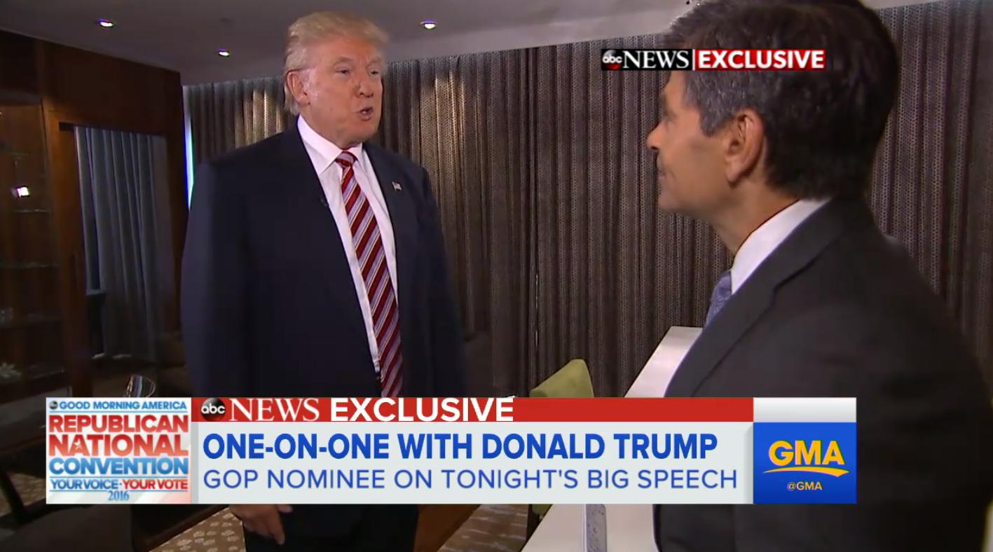 Donald Trump RNC 'GMA' Screenshot - H 2016
