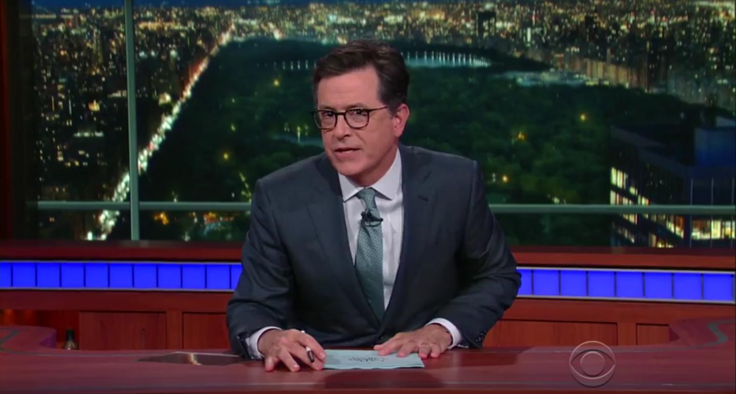 Stephen Colbert 'Late Show' Screenshot - H 2016