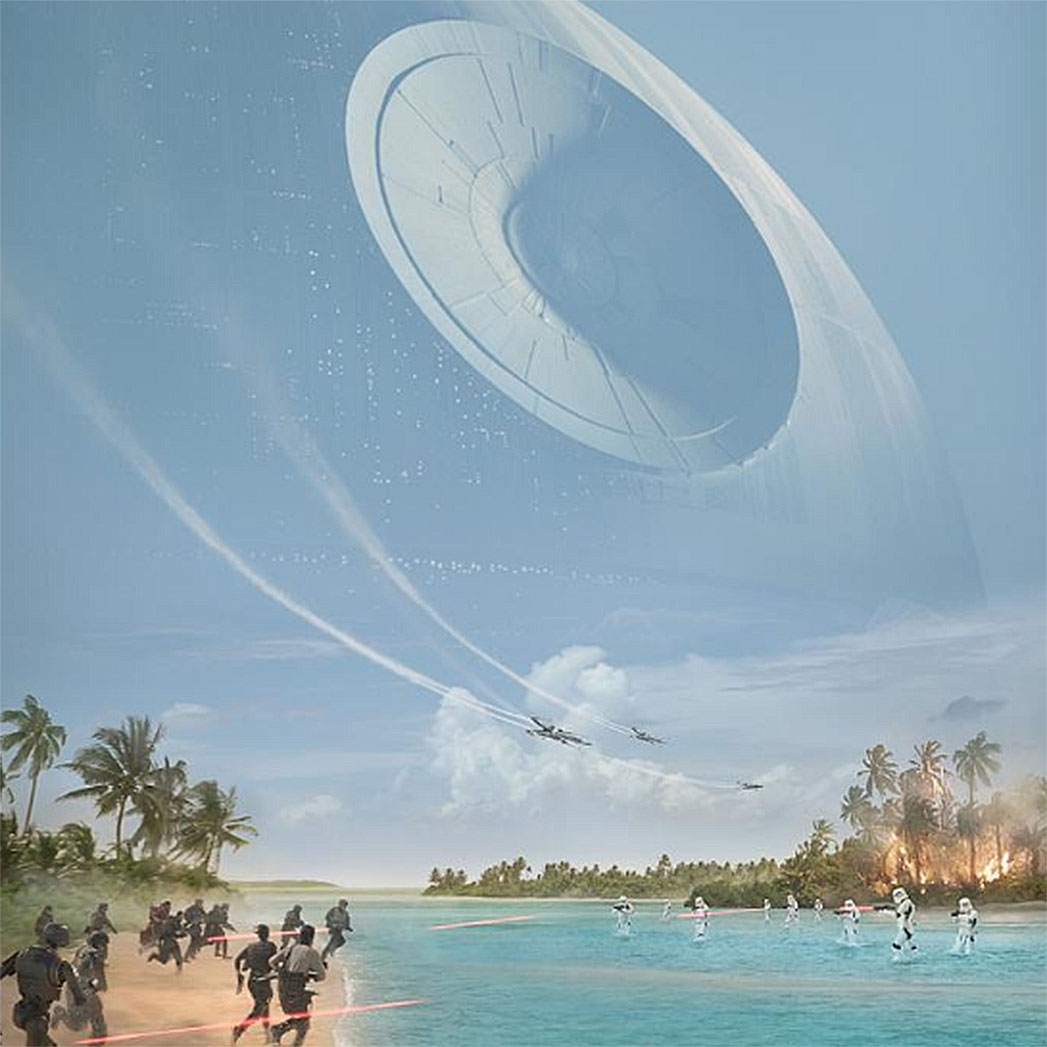 Star Wars- Twitter-The Death Star rises in this new poster for RogueOne-Screen Shot-SQ2016