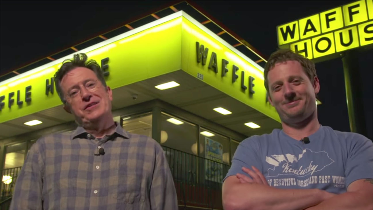 Stephen Colbert Sturgill Simpson Waffle House H 2016
